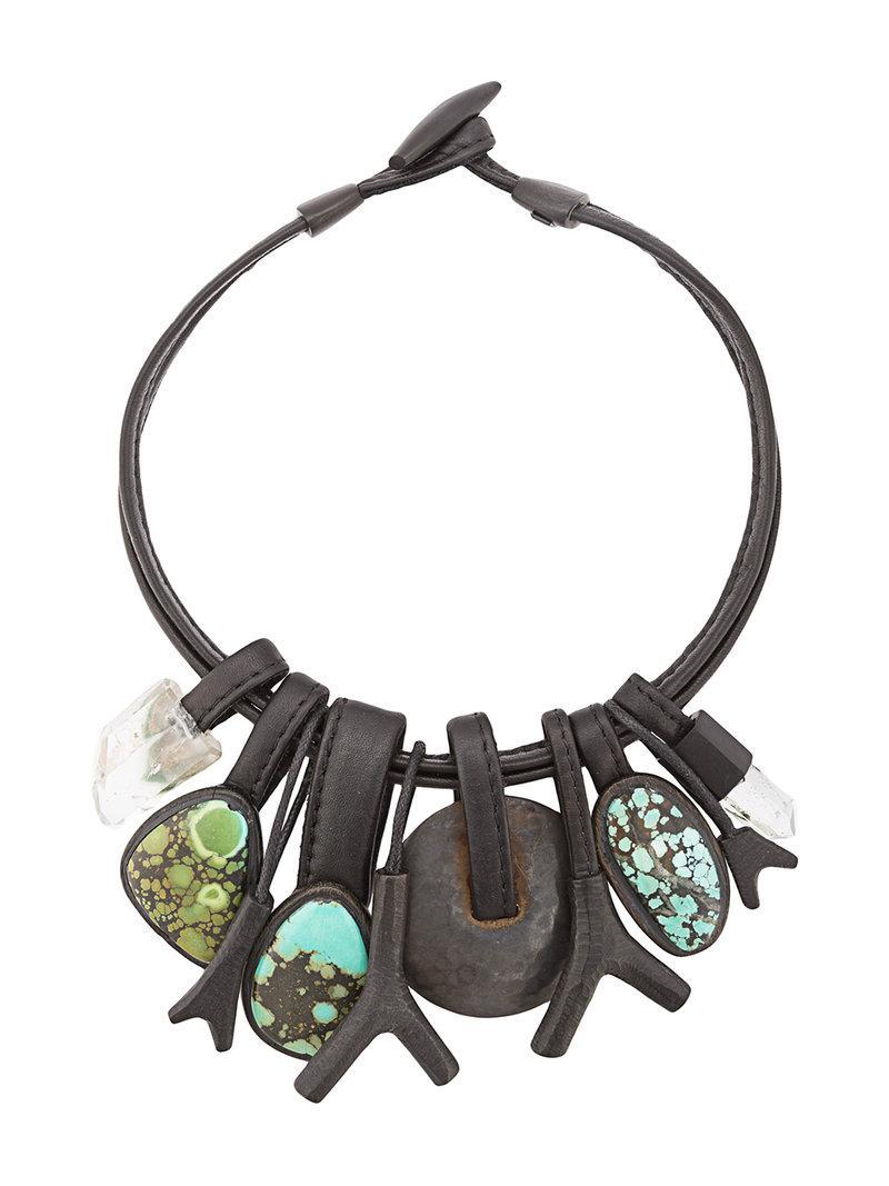 Monies Unique necklace - Black 7gTJS