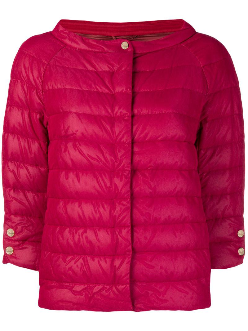 ae464293ac5 Herno Feathered Puffer Jacket in Red - Lyst