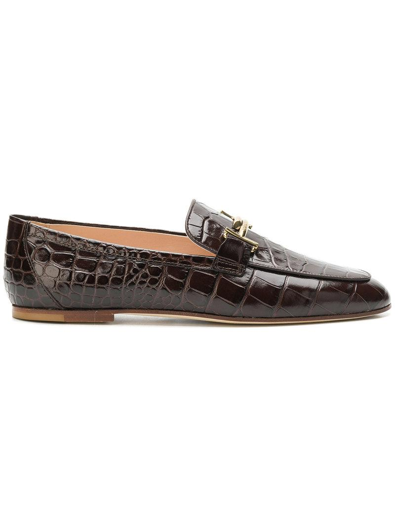 Tod's embossed vernished patterned loafers discount purchase cheap newest clearance 2015 new f7tnJQY1kE