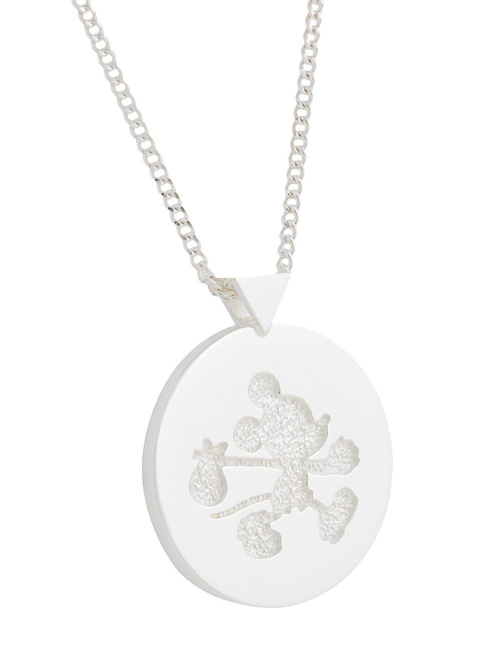 cd69319d764f Lyst - Karen Walker Runaway Mickey Disc Necklace in Metallic
