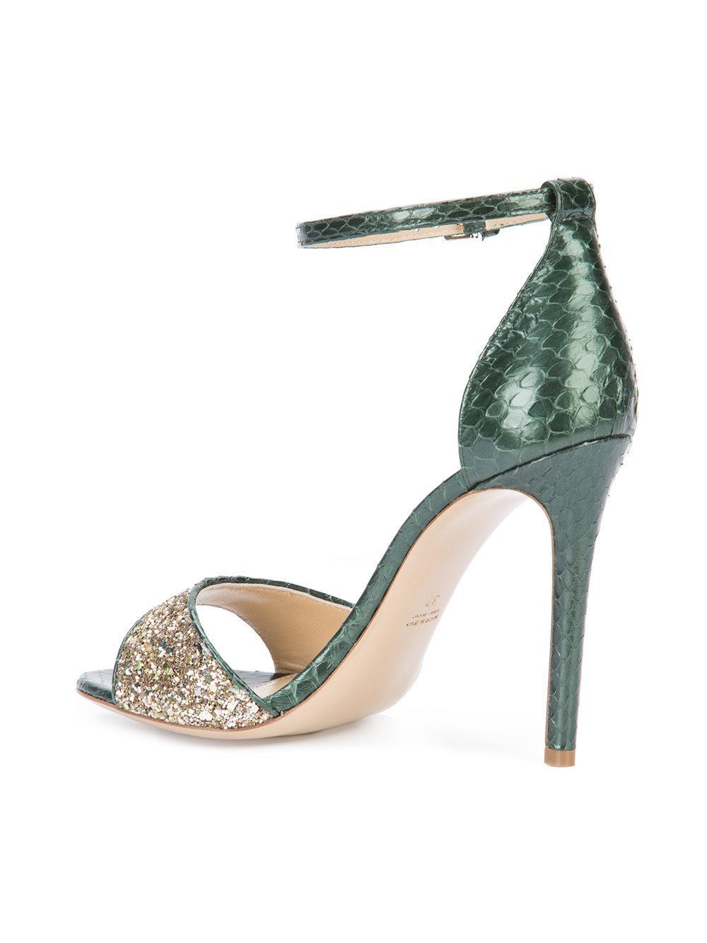 glitter sandals - Green Monique Lhuillier ZVMQz6