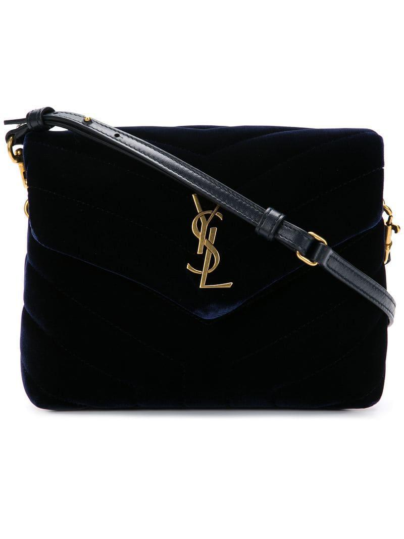 d5e4fb5b54 Saint Laurent Small Loulou Crossbody Bag in Blue - Save ...