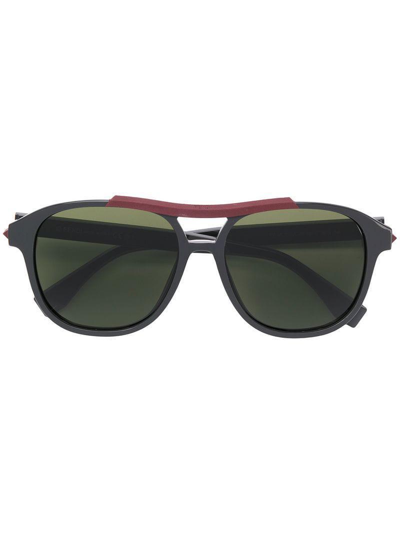 6b81c81d2d34 Lyst - Fendi Square Frame Sunglasses in Gray for Men