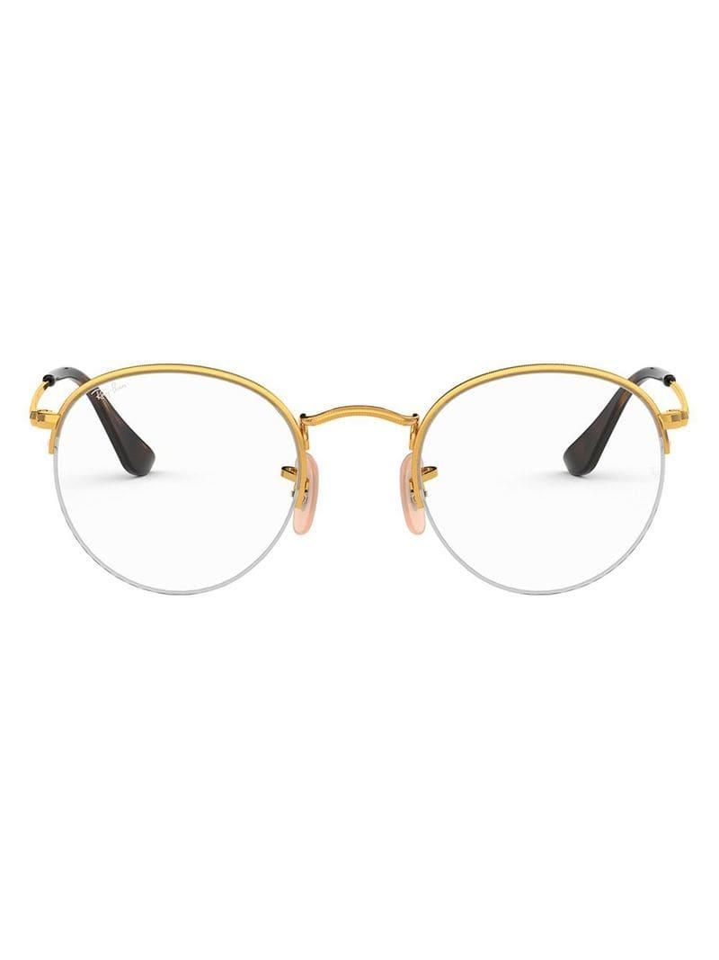 d7f779217406f Ray-Ban Round Frame Glasses in Metallic - Lyst