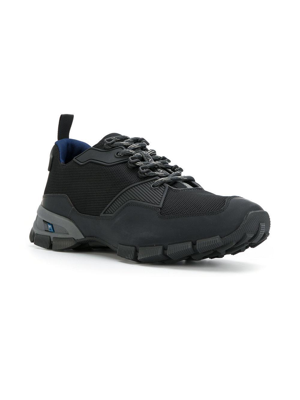 eaa909bf8dbb Lyst - Prada Ridged Sole Sneakers in Black for Men