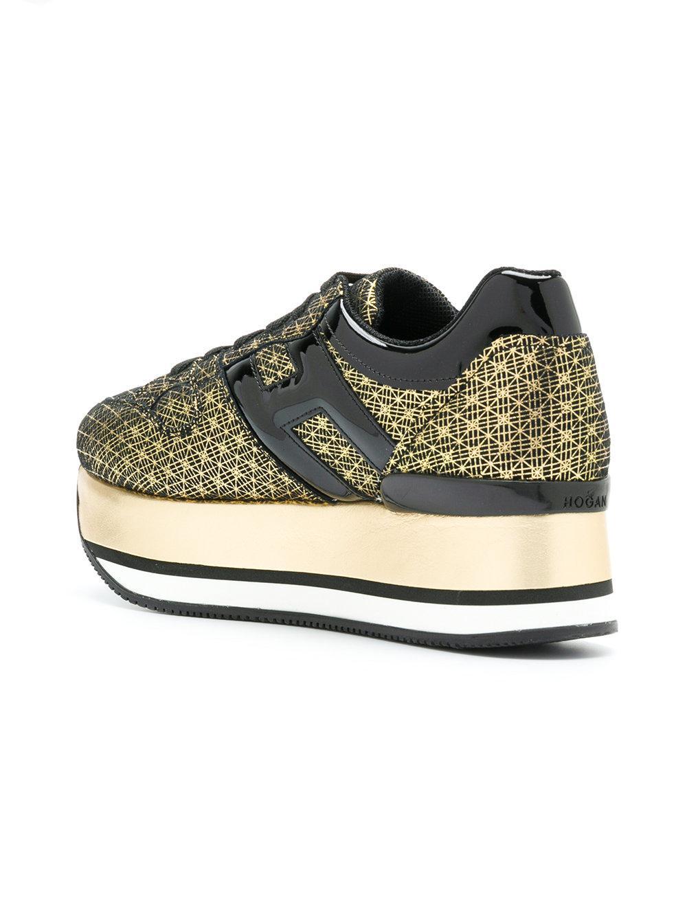 gold-toned suede sneakers - Black Hogan tsHV79UZ