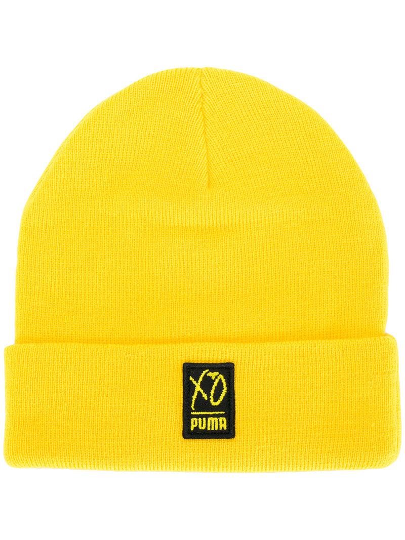 1020e6743cd Lyst - PUMA Xo Knitted Beanie in Yellow for Men