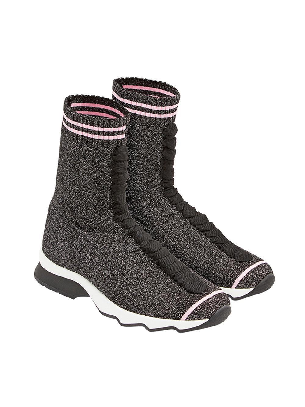 Fendi - Black Sneakers In Tessuto - Lyst. View fullscreen eaddcc6b4ce