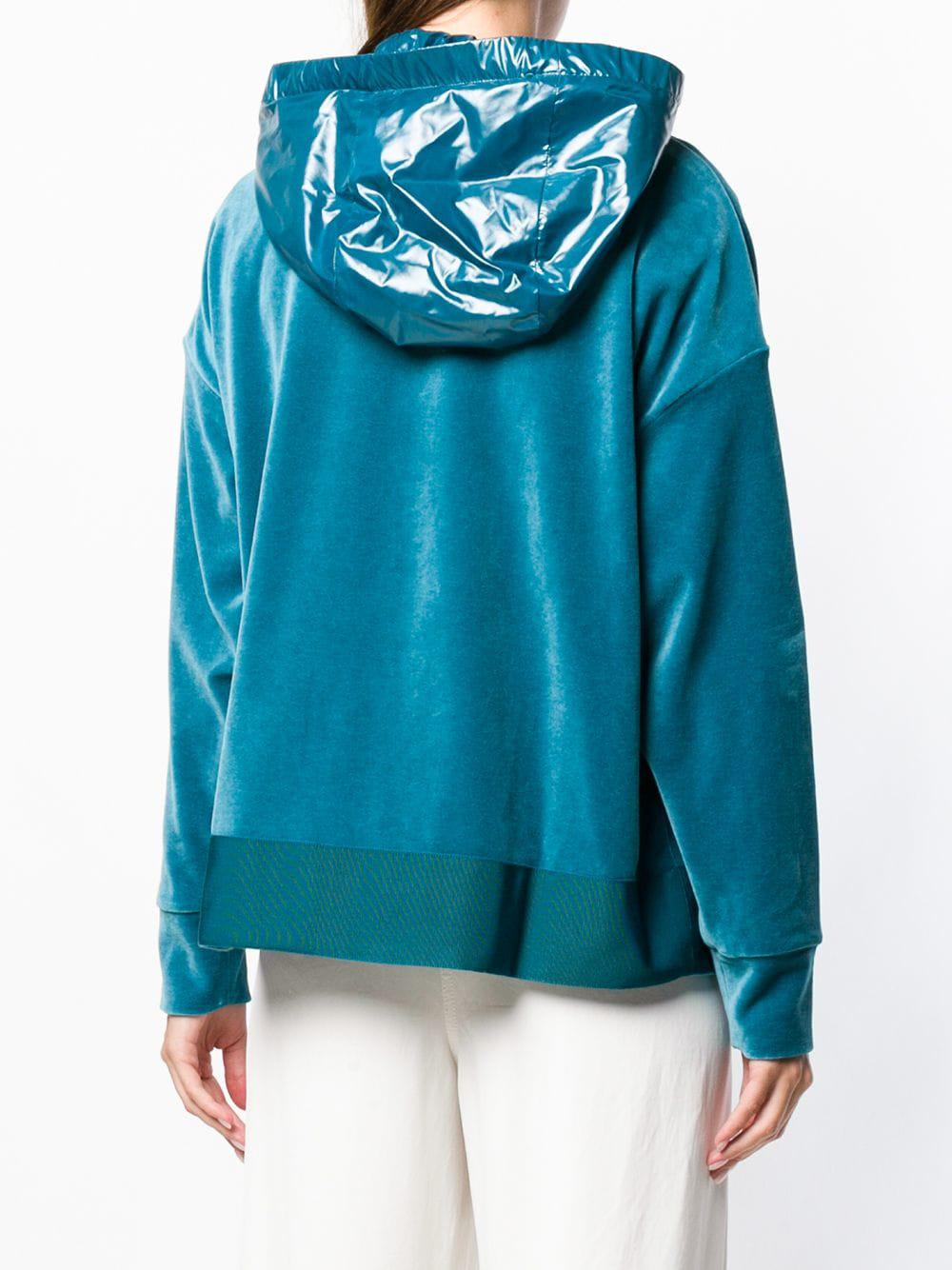 79bfccfcf0c7 Lyst - Moncler Zipped Hooded Sweatshirt in Blue