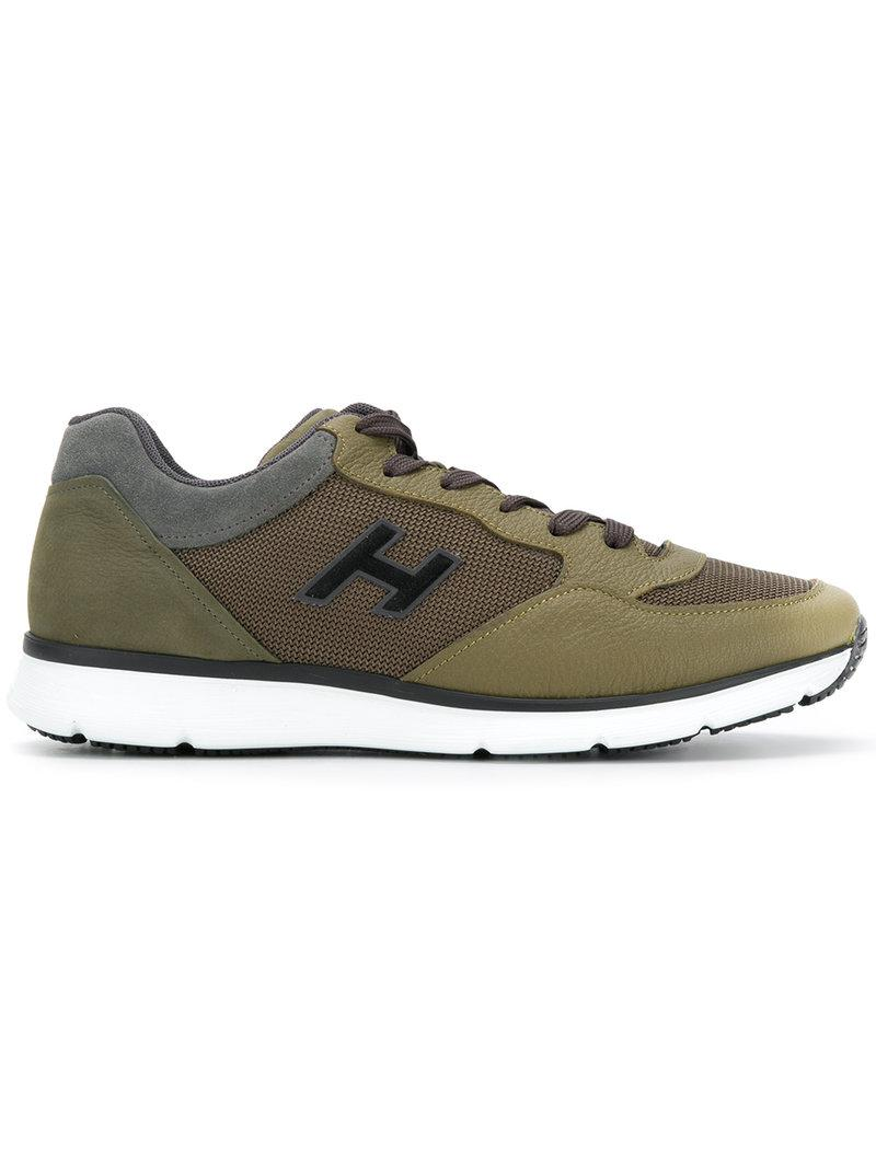 panelled sneakers - Green Hogan B8Acr