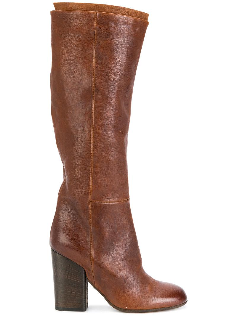 6fda252fec157 Lyst - Pantanetti Knee Length Boots in Brown