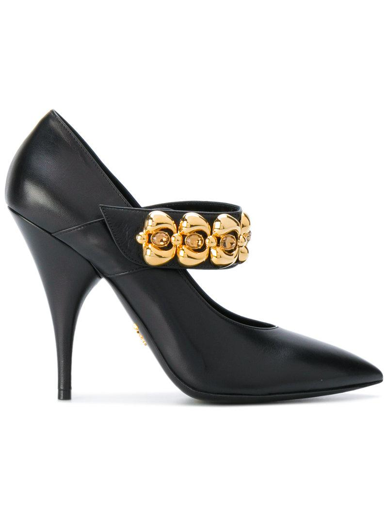 crystal-embellished pumps - Black Prada QuITehl