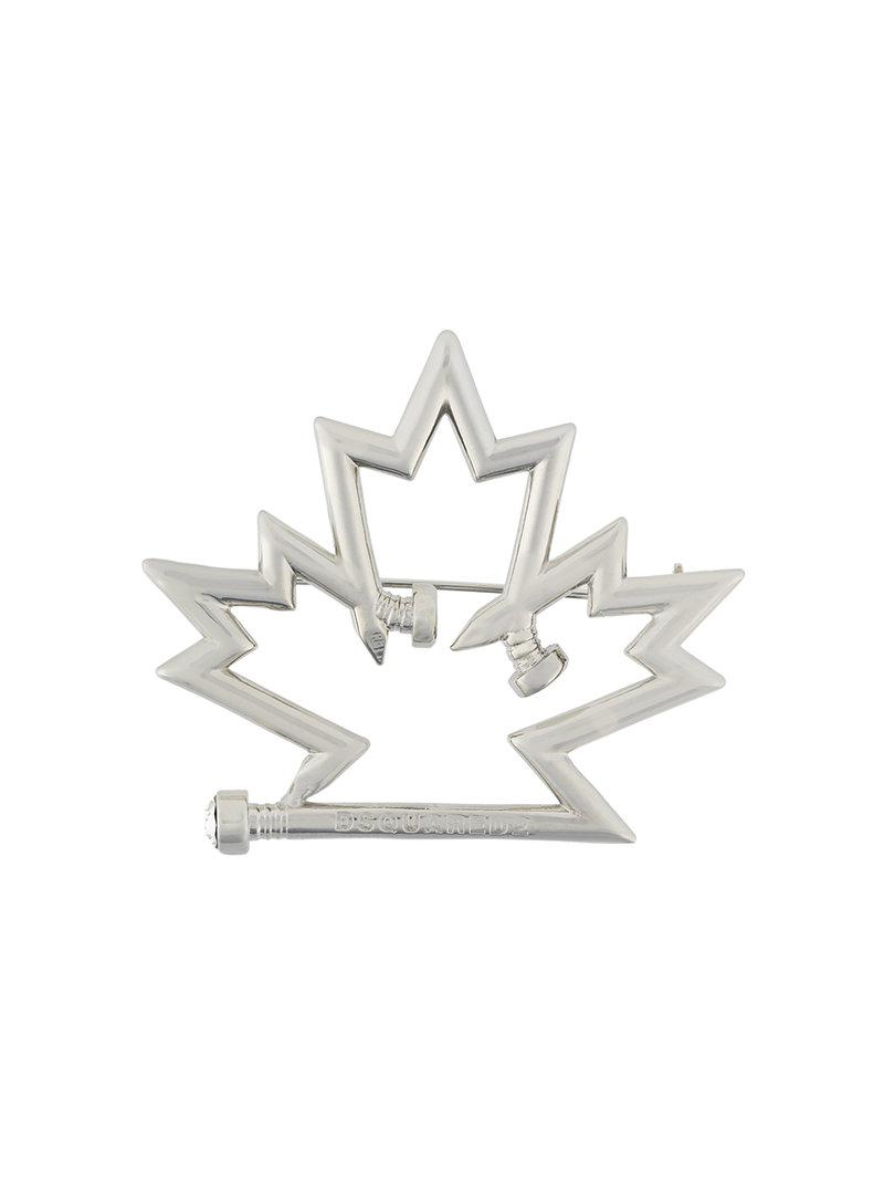 Dsquared2 maple leaf pin - Metallic NSmYPOgeW