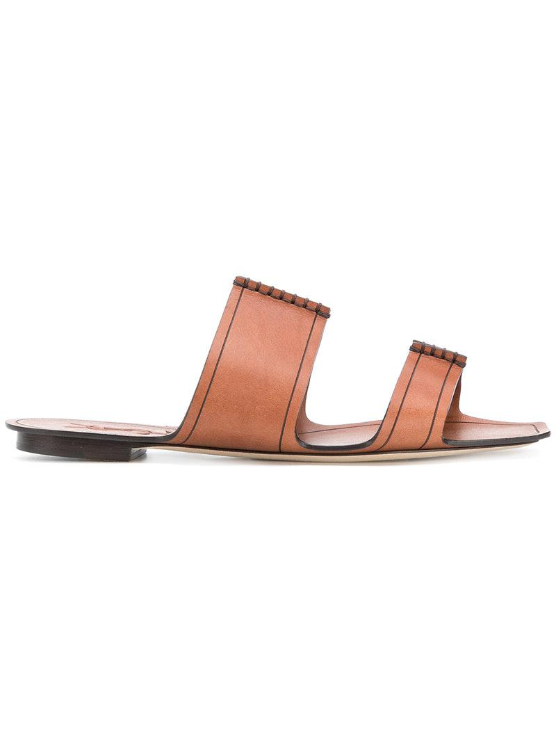 Visit For Sale 100% Guaranteed Online Saint Laurent Saba leather slides 9rO8jfM