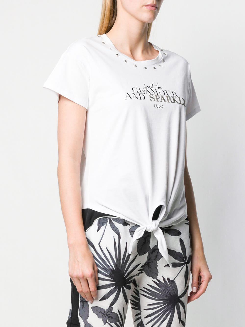 4dcf2904237 Liu Jo Safari Garden Party T-shirt in White - Lyst