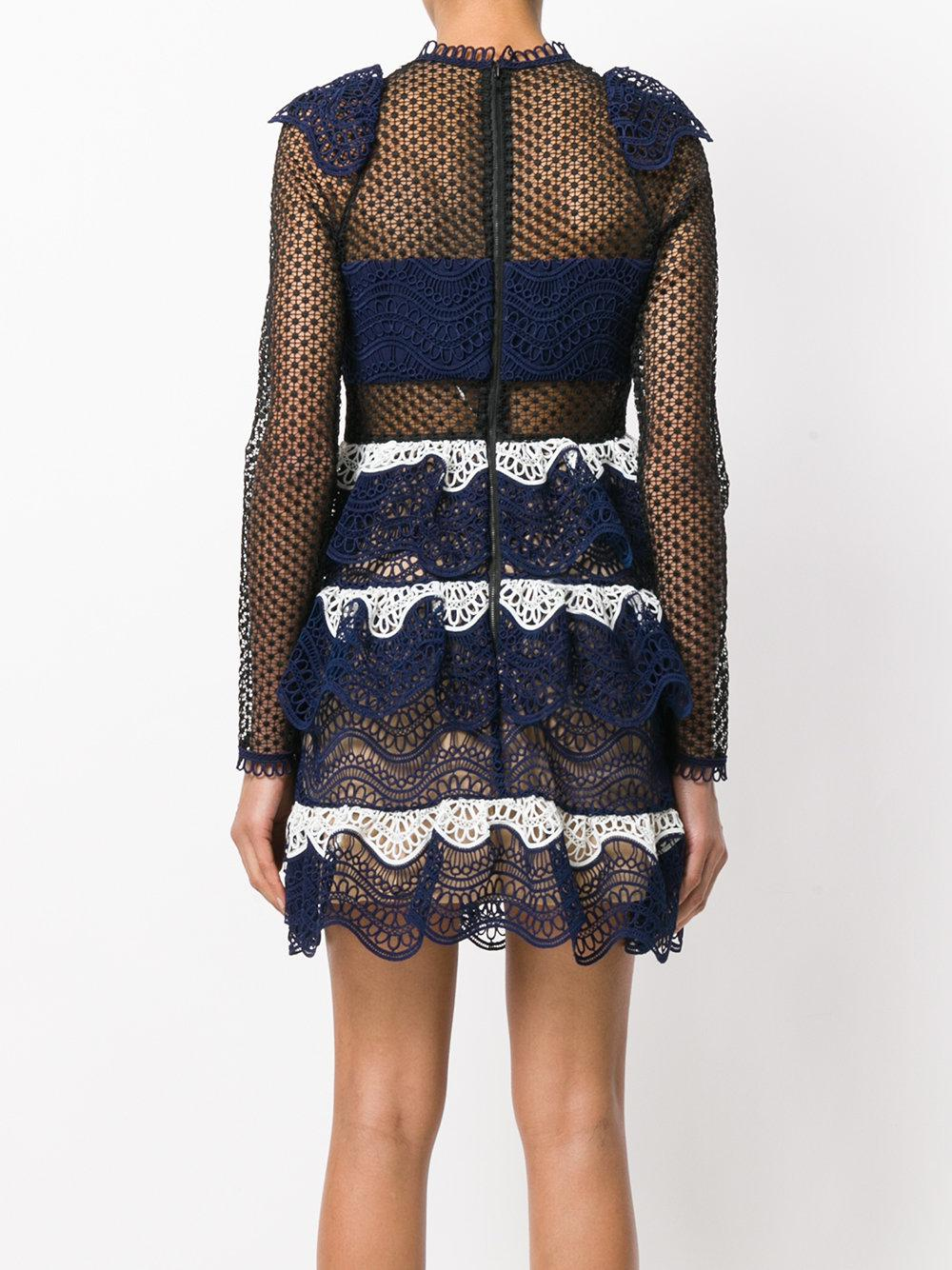 ... Guipure Mini Dress | Lyst. View Fullscreen