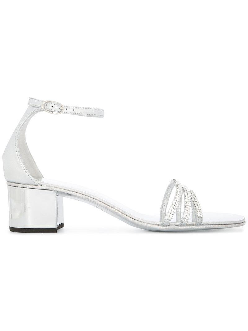 Martha embellished sandals - Metallic Giuseppe Zanotti wGQQXC
