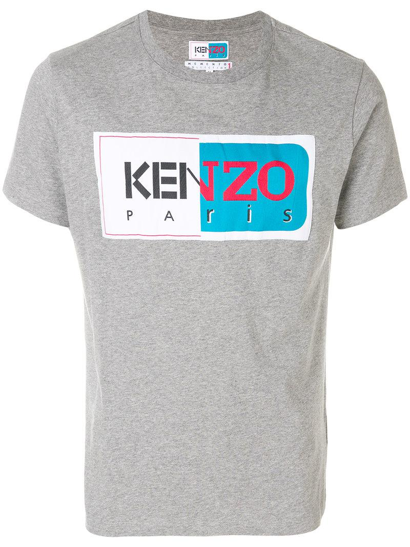 kenzo printed t shirt in gray for men lyst. Black Bedroom Furniture Sets. Home Design Ideas