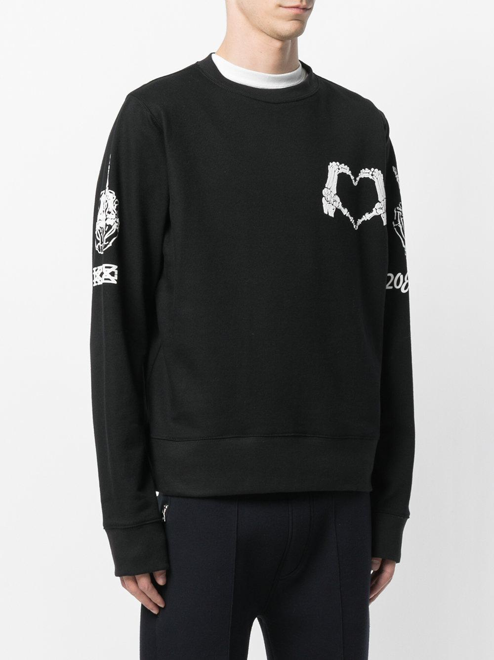 Sale Genuine New Arrival Cheap Online KTZ skeleton heart print sweatshirt 1ZMOnw