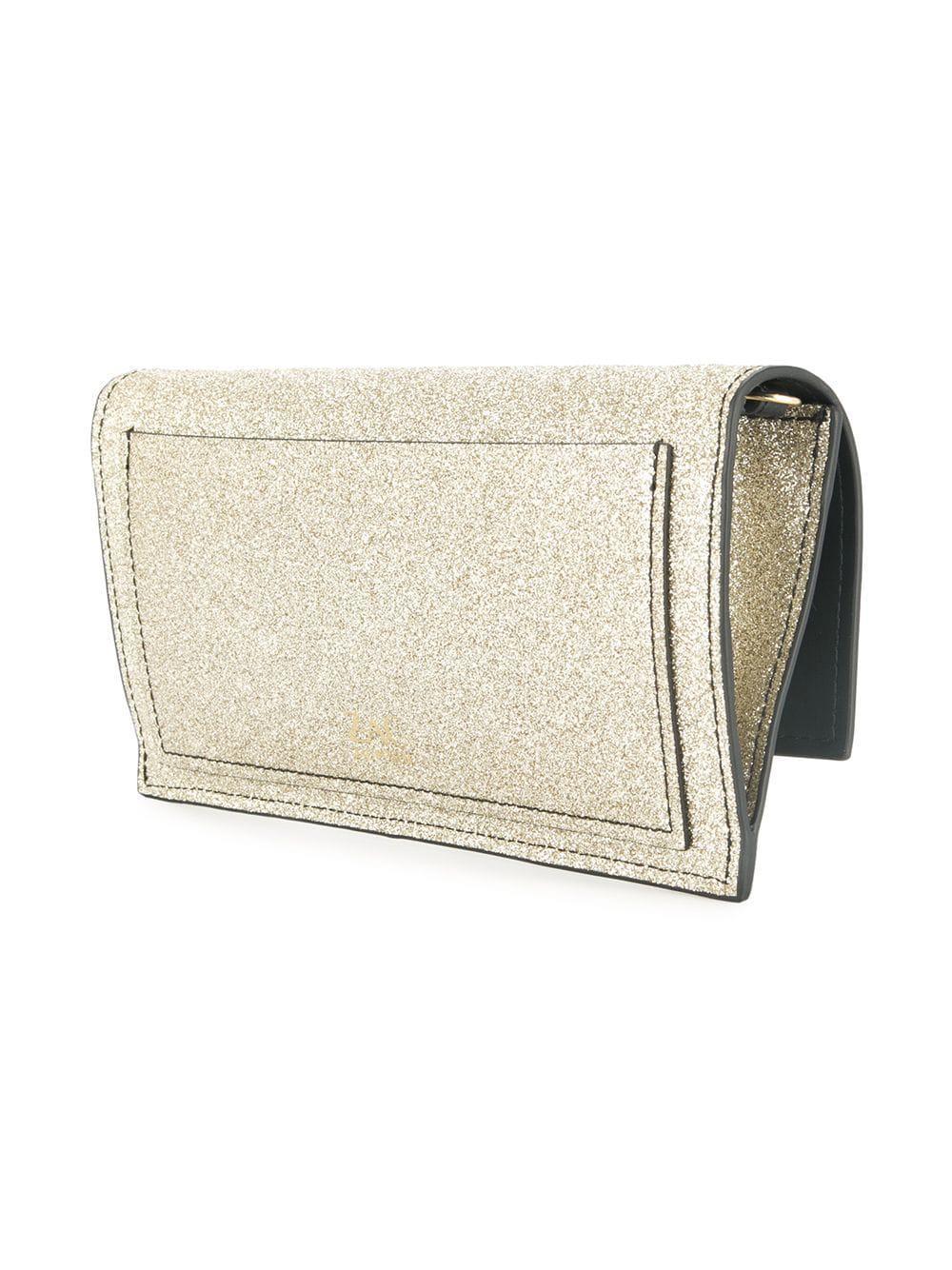 Clutch Posen Bag In Metallic Glitter Zac Earthette Lyst a4CqwUn