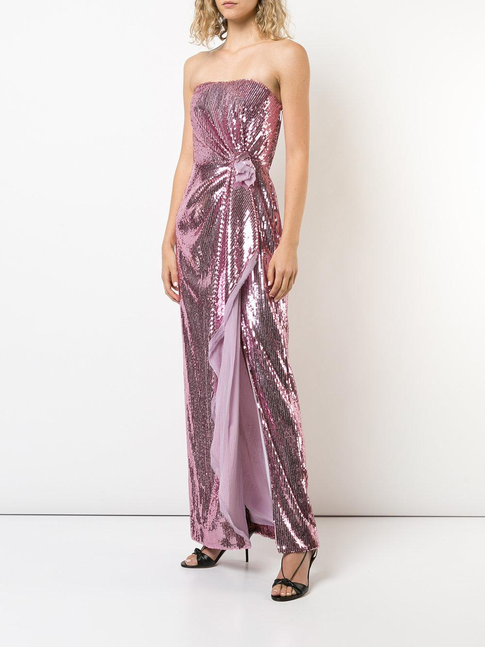 strapless gathered sequin gown - Pink & Purple Prabal Gurung With Mastercard Cheap Price HD8Yp2