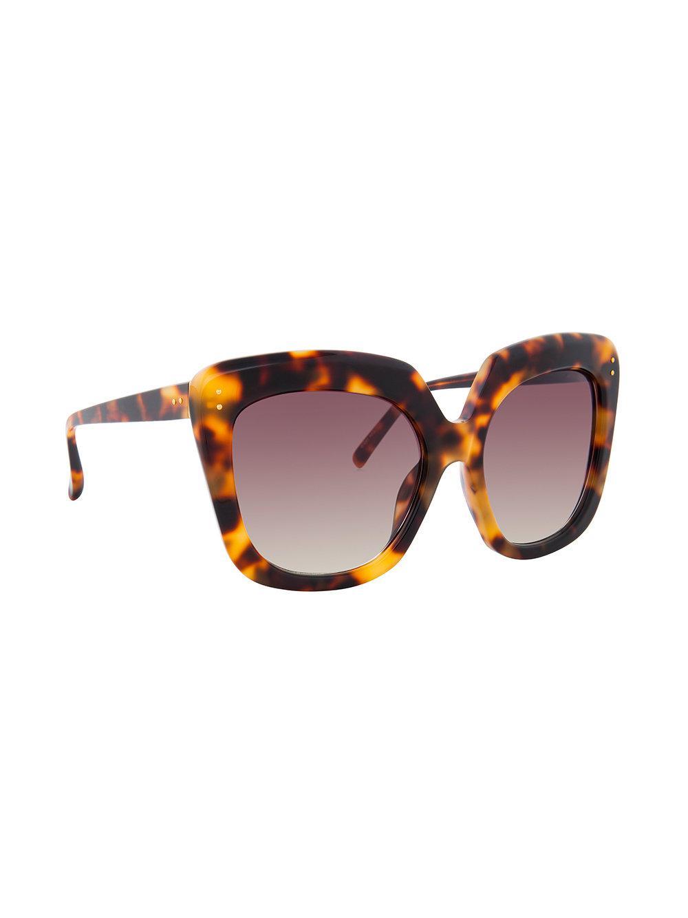 589ad9545f Lyst - Linda Farrow 556 C3 Oversized Sunglasses in Brown