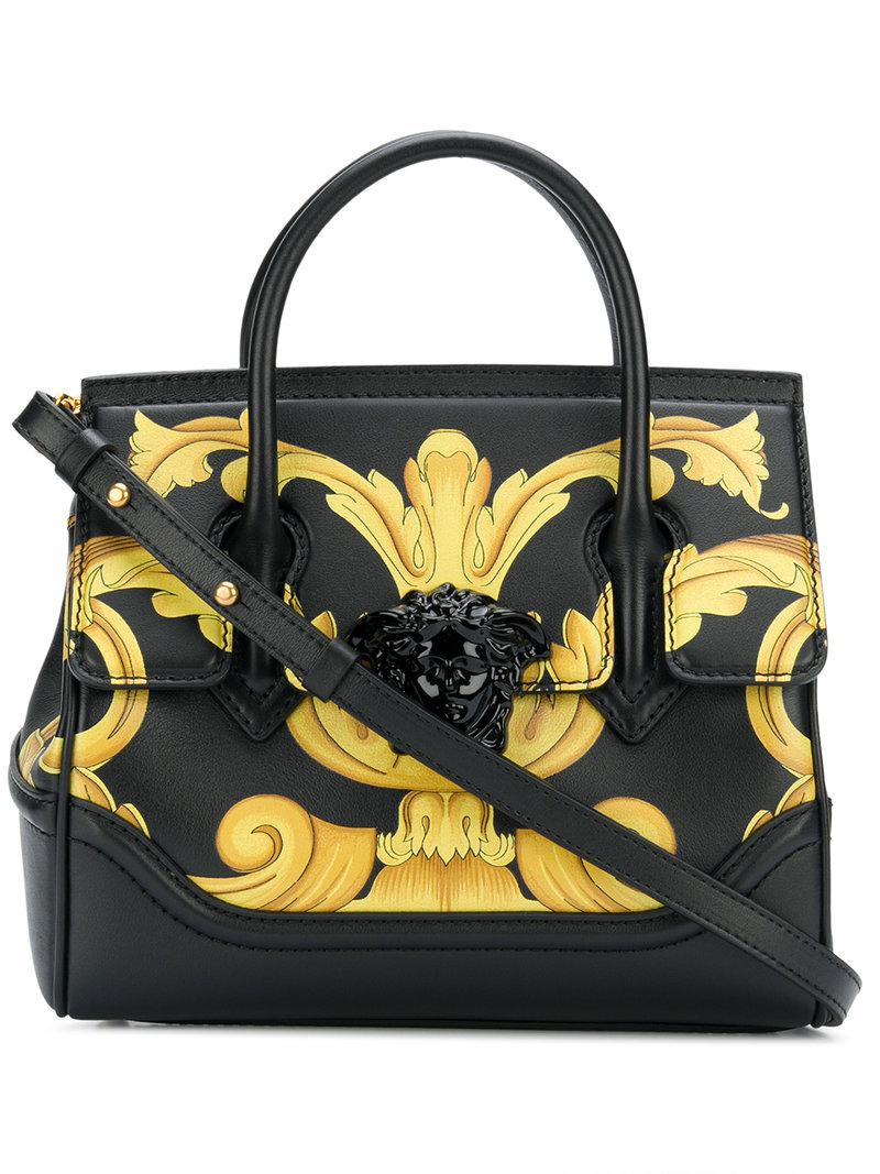 b9dd191a878b Lyst - Versace Palazzo Empire Printed Tote in Black