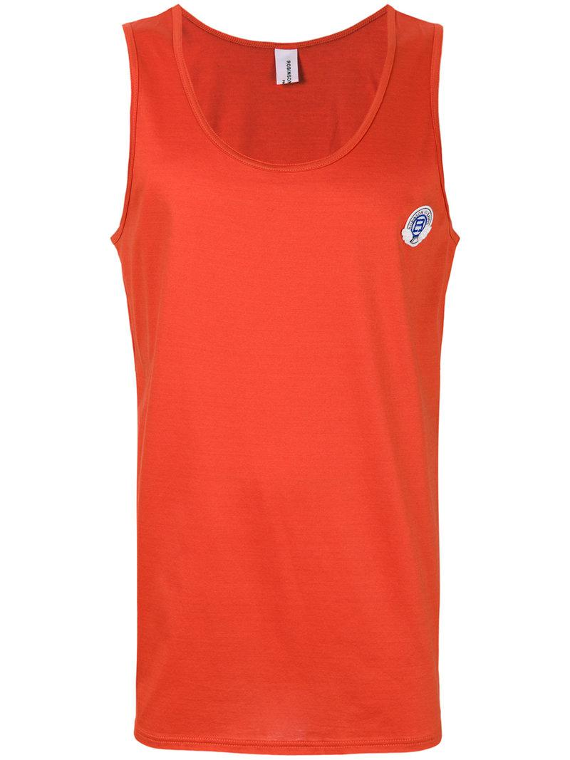 Robinson les bains Logo Patch Vest Top in Orange for Men   Lyst