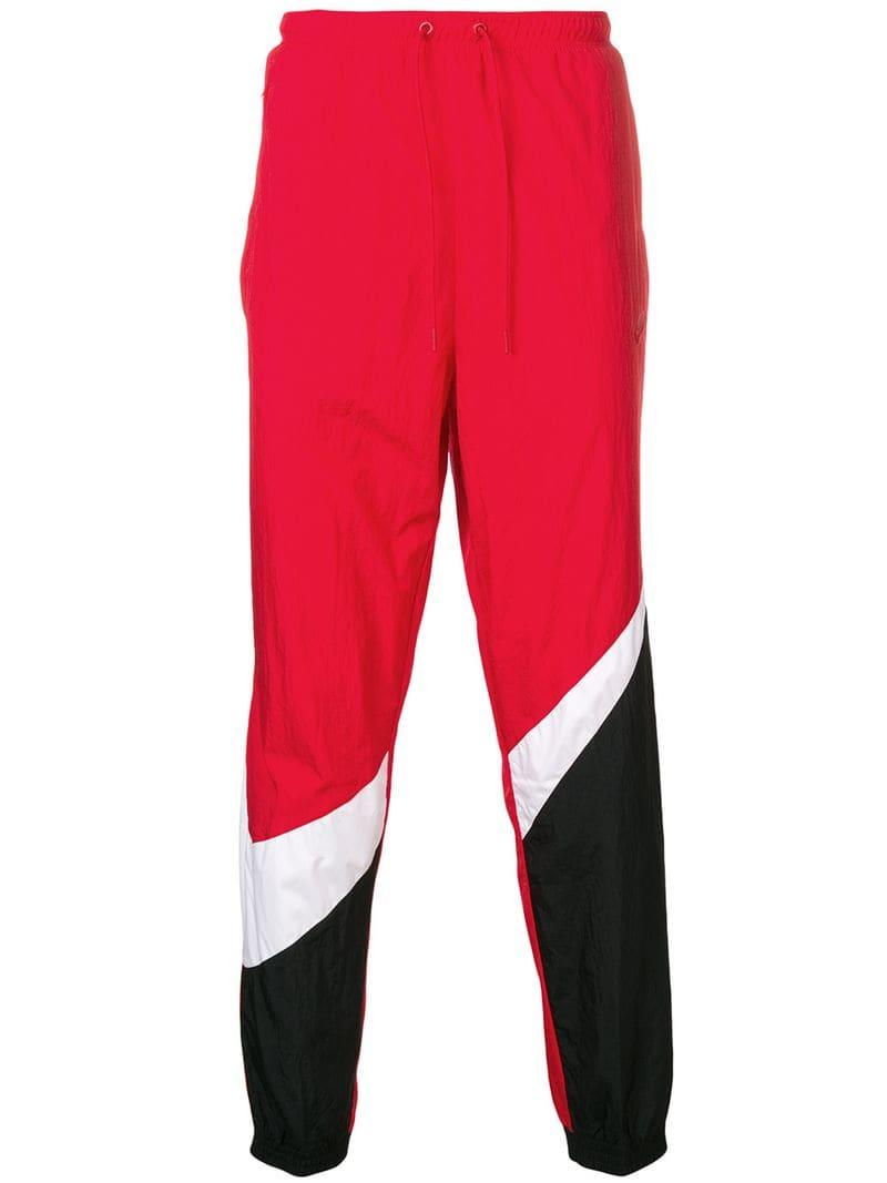 8be18f4b82f1 Nike Logo Track Pants in Red for Men - Lyst