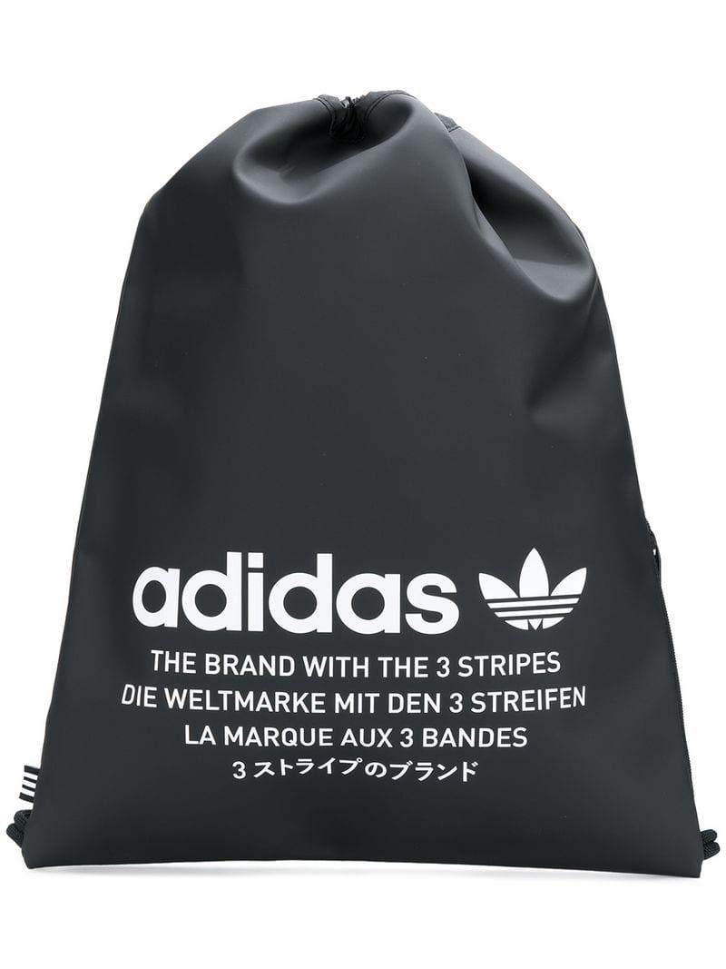 3a45c9ade9f1 Adidas black logo print drawstring backpack view fullscreen jpg 800x1067 Adidas  drawstring backpack