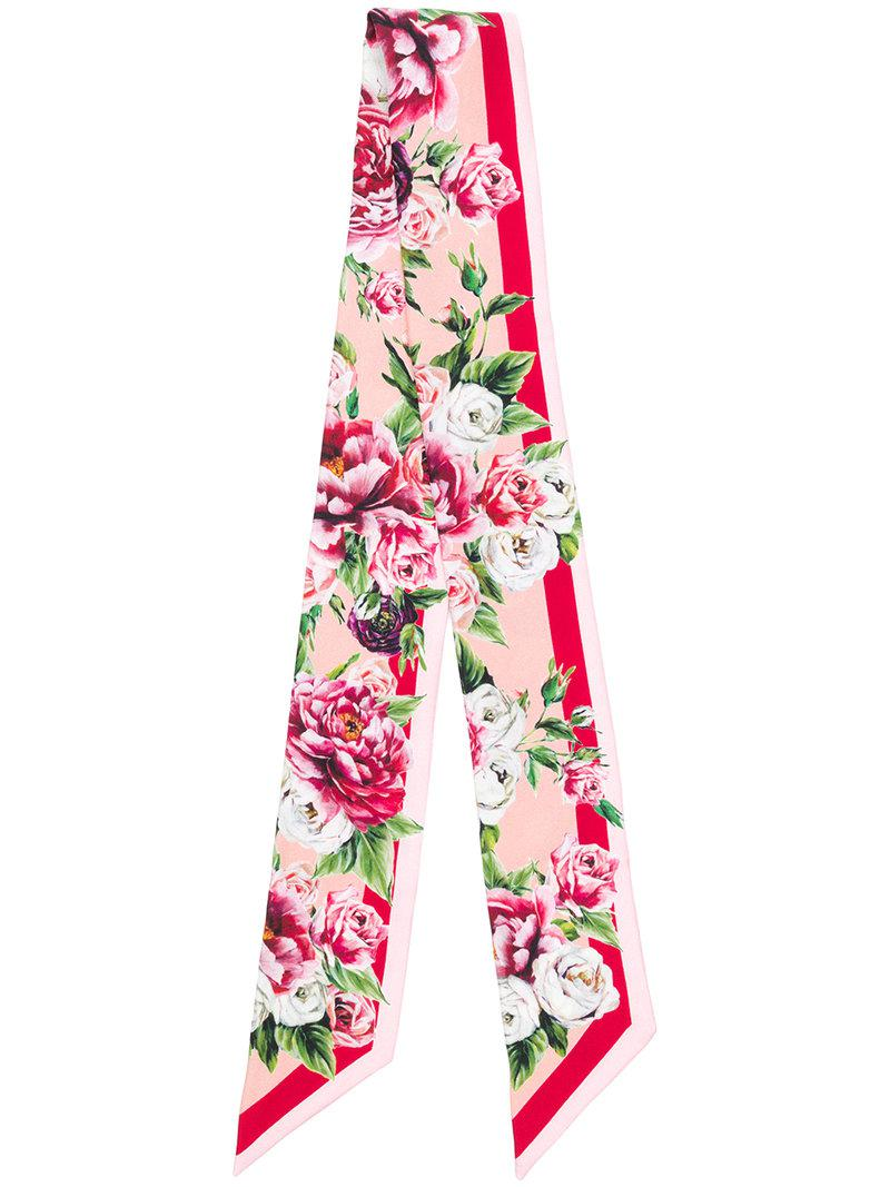 peony print foulard - Pink & Purple Dolce & Gabbana KDNU1