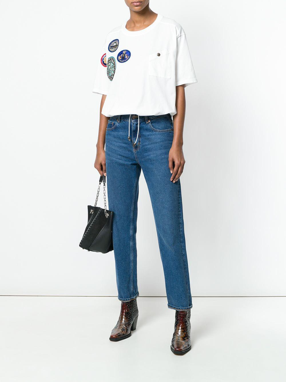 Mrs Shirt Drawstring In Italy Mramp; Lyst Save T White Patched 77 rxBodCe