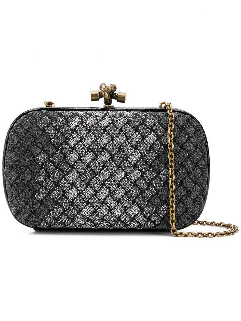 Bottega Veneta Knot Clutch Bag in Black - Lyst 3dd6540f5695b