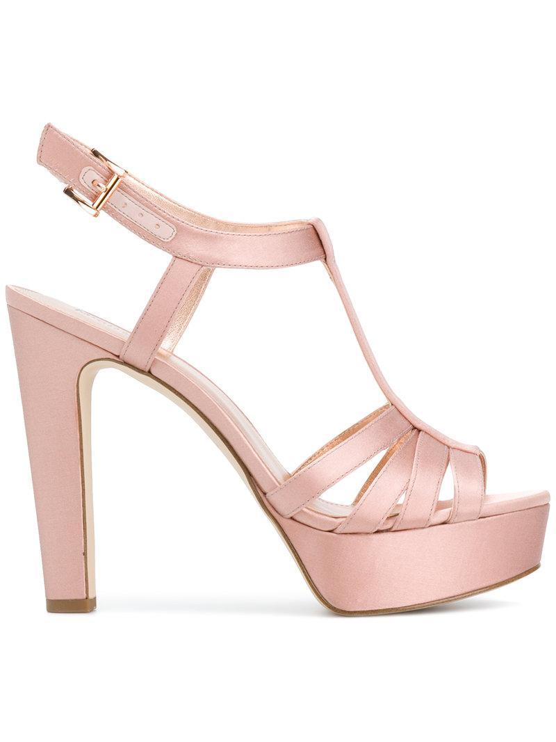 b2c04f06d503 Michael Michael Kors Catalina Platformed Sandals in Pink - Lyst