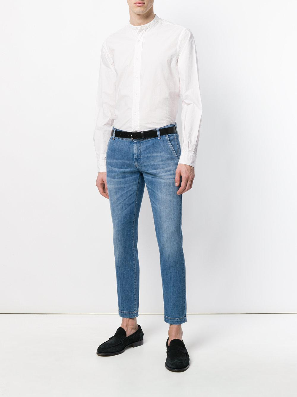 Entre Amis - Blue Cropped Slim Fit Jeans for Men - Lyst. View fullscreen ccc53b808db