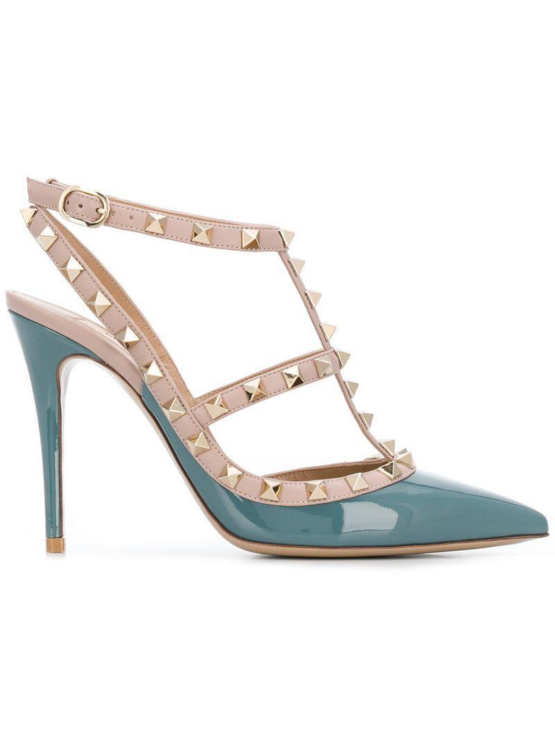 e037e646b01 Valentino. Women s Blue Garavani Rockstud Court Shoes