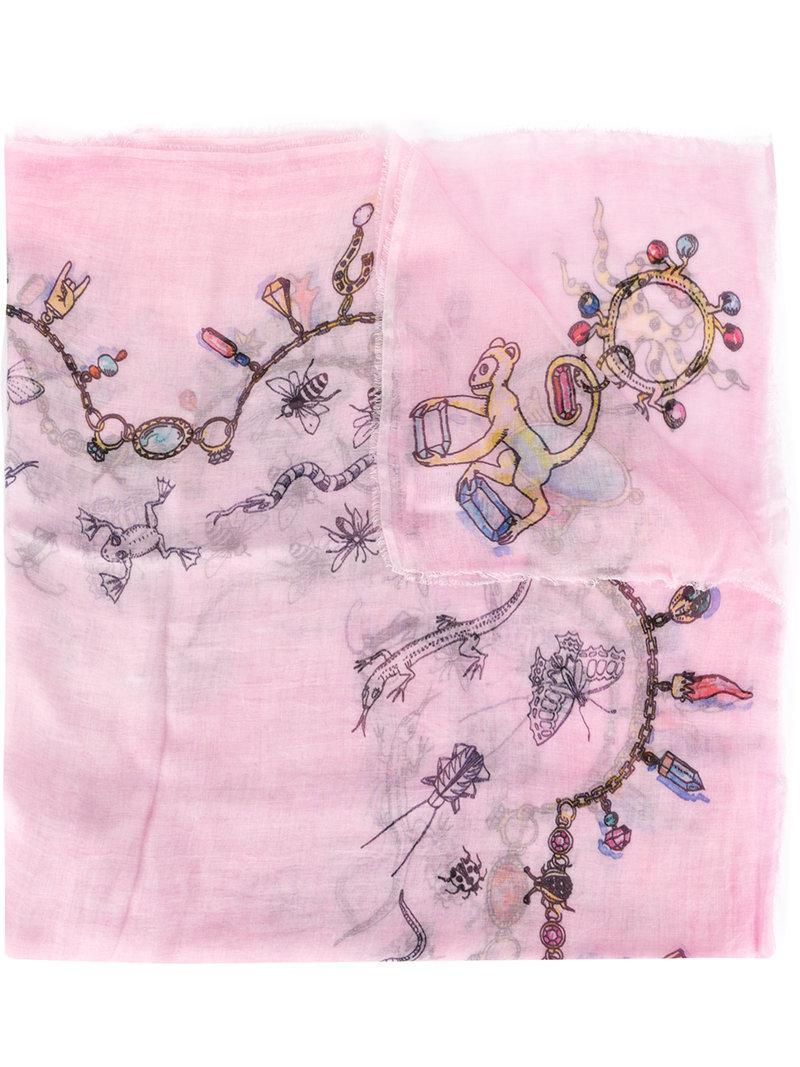 Browse For Sale Low Price Fee Shipping Faliero Sarti print frayed hem scarf Ph4mDM