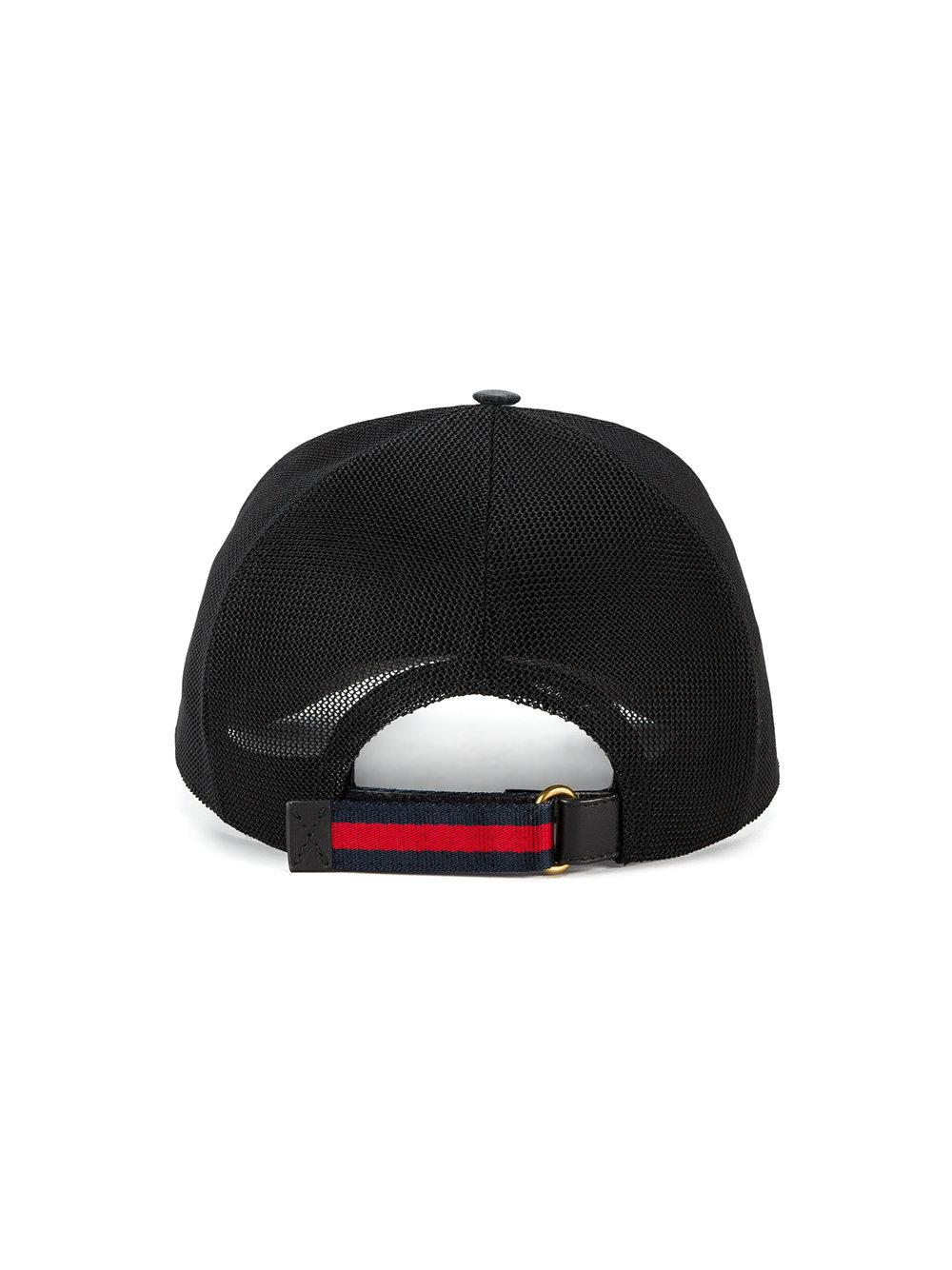 7af8f316f0c Lyst - Gucci Gg Supreme Angry Cat Baseball Cap in Black for Men