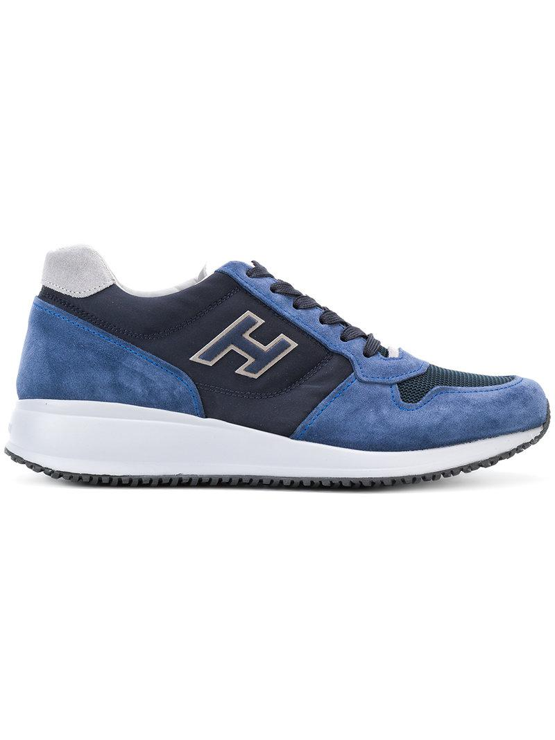 panel design sneakers - Blue Hogan nhuiUfcjgG