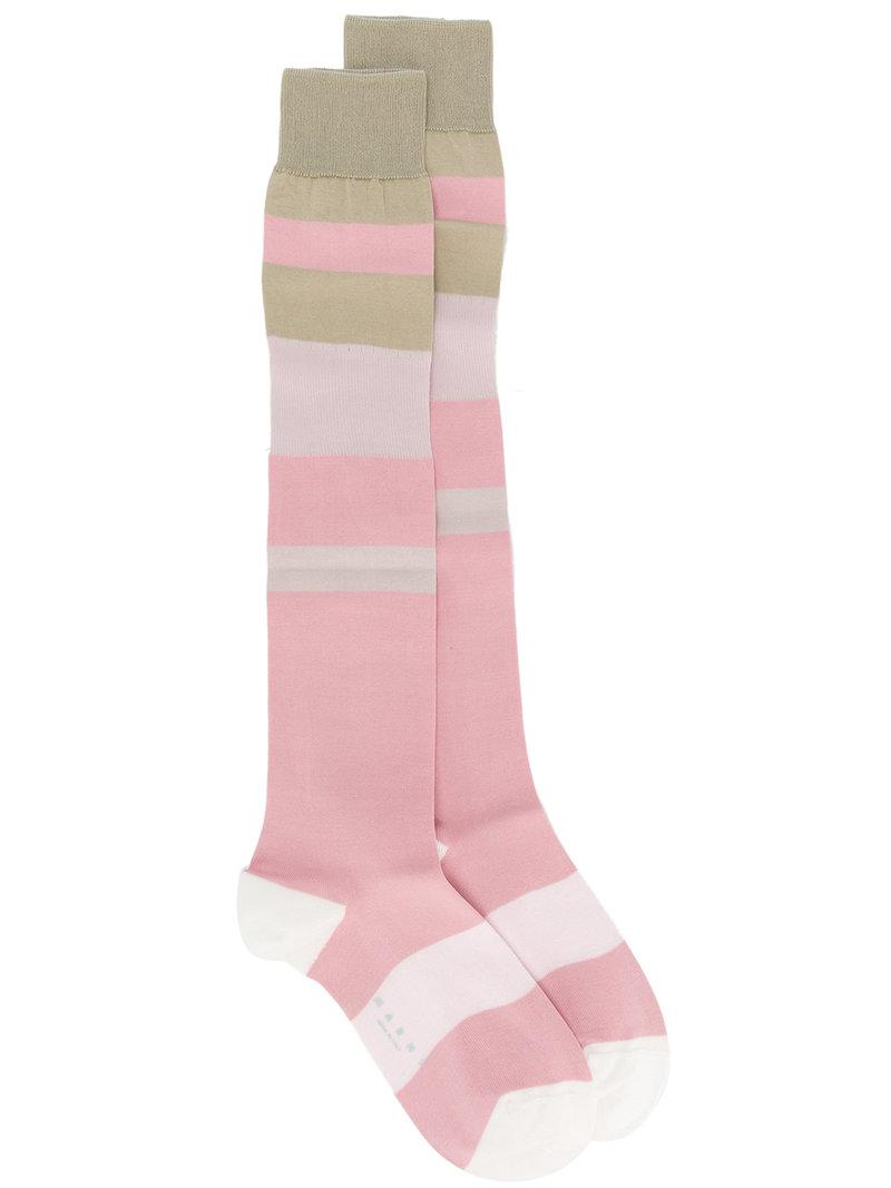 Marni elongated design socks Amazon For Sale Amazon Footaction 100% Authentic Discount Countdown Package Cheap Sale Amazing Price TQirN9