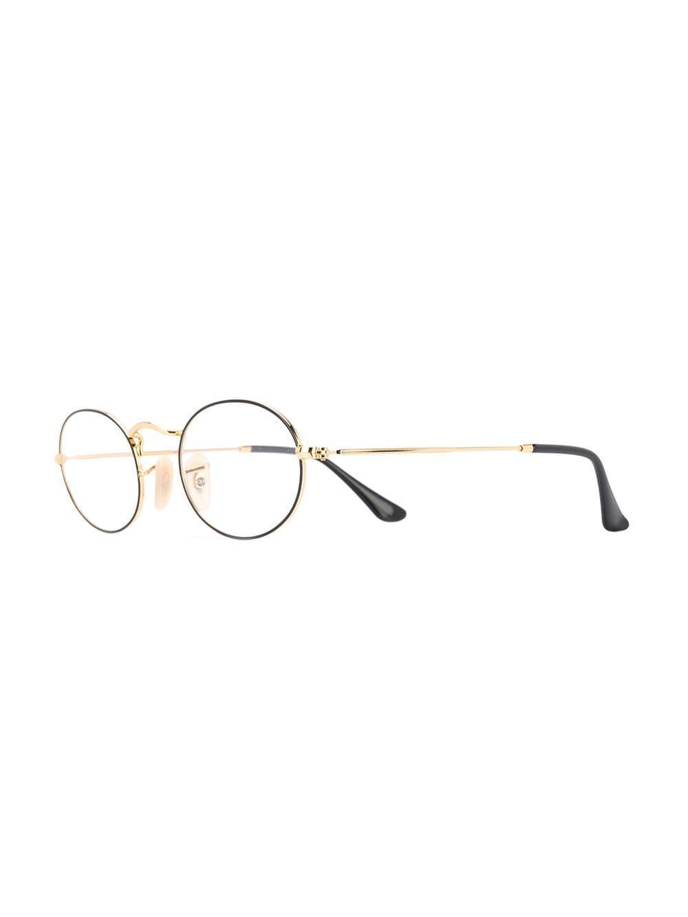 1e8d7c0880 Ray-Ban - Black Round Frame Glasses - Lyst. View fullscreen