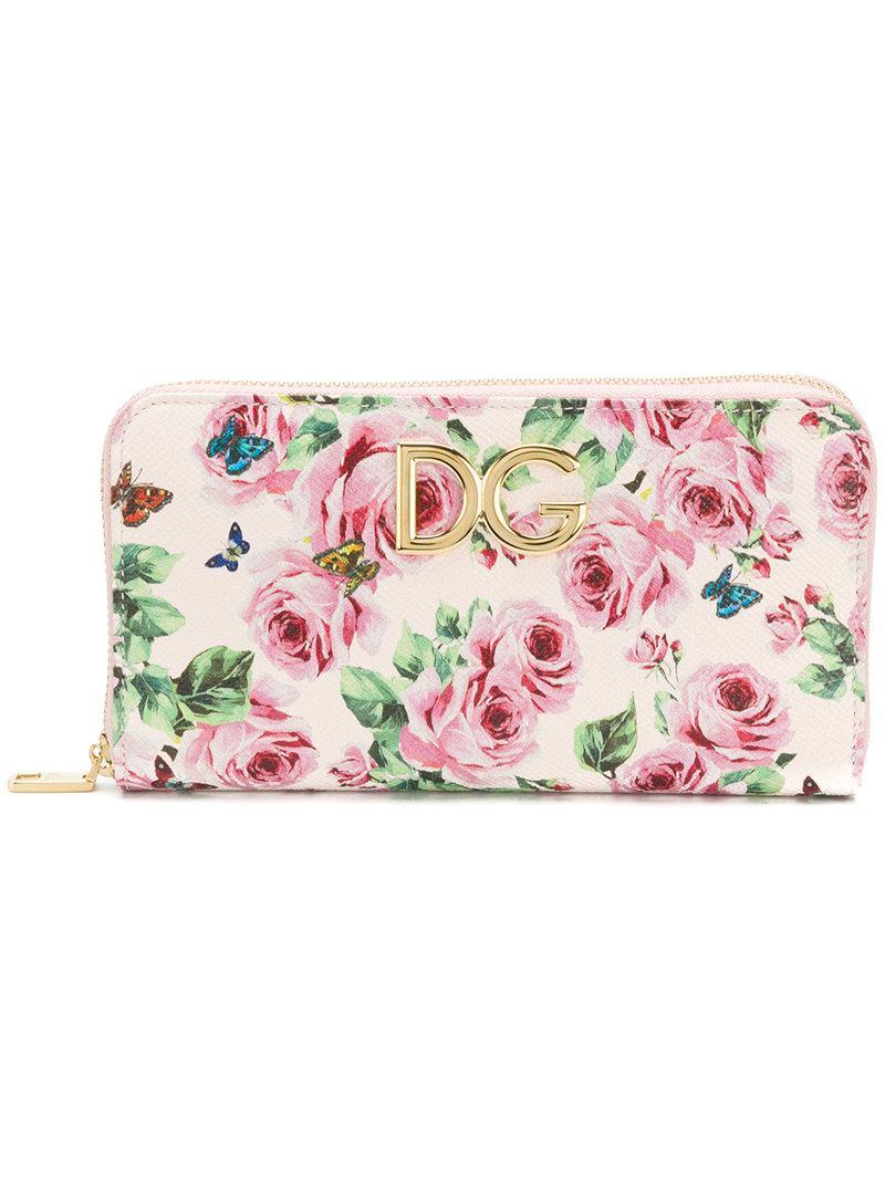 Portefeuille Continental Rayé Imprimé - Multicolor Dolce & Gabbana n6FbFxnV