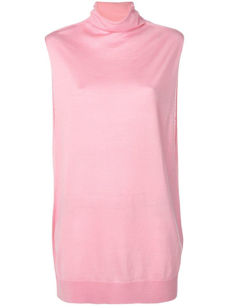6964e03d Jil Sander Navy Sleeveless Oversized Top in Pink - Lyst