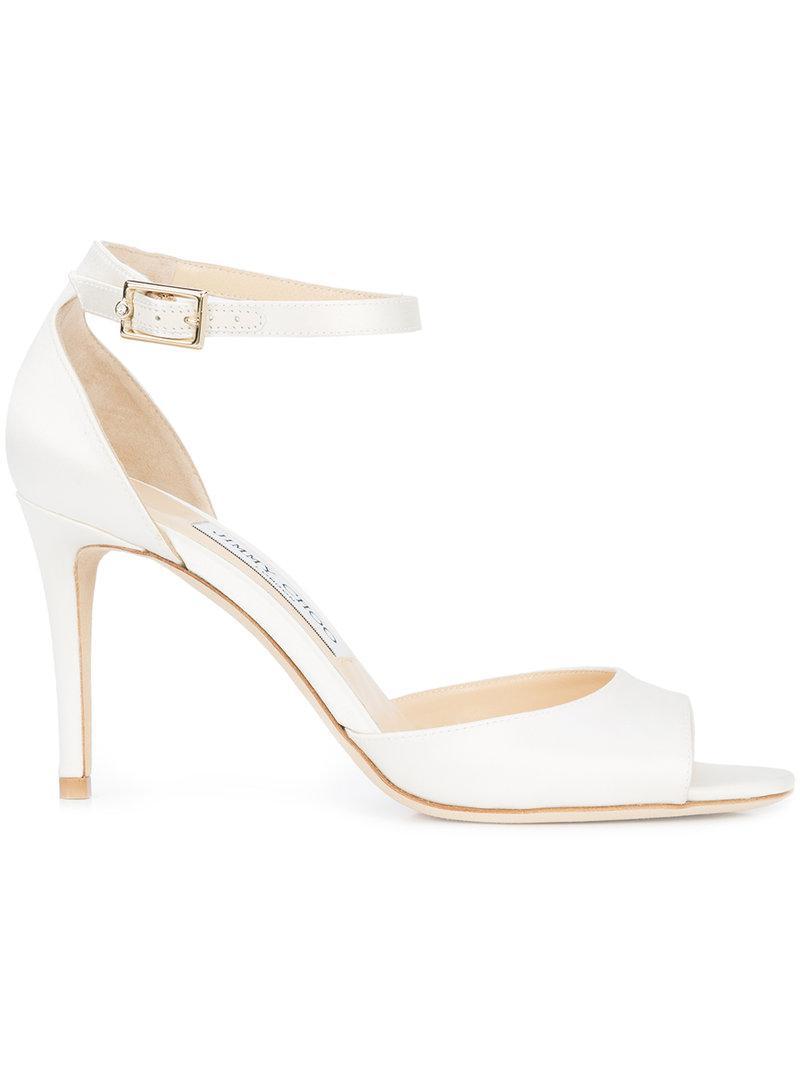 86e1de07d Lyst - Jimmy Choo Annie 85 Sandals in White