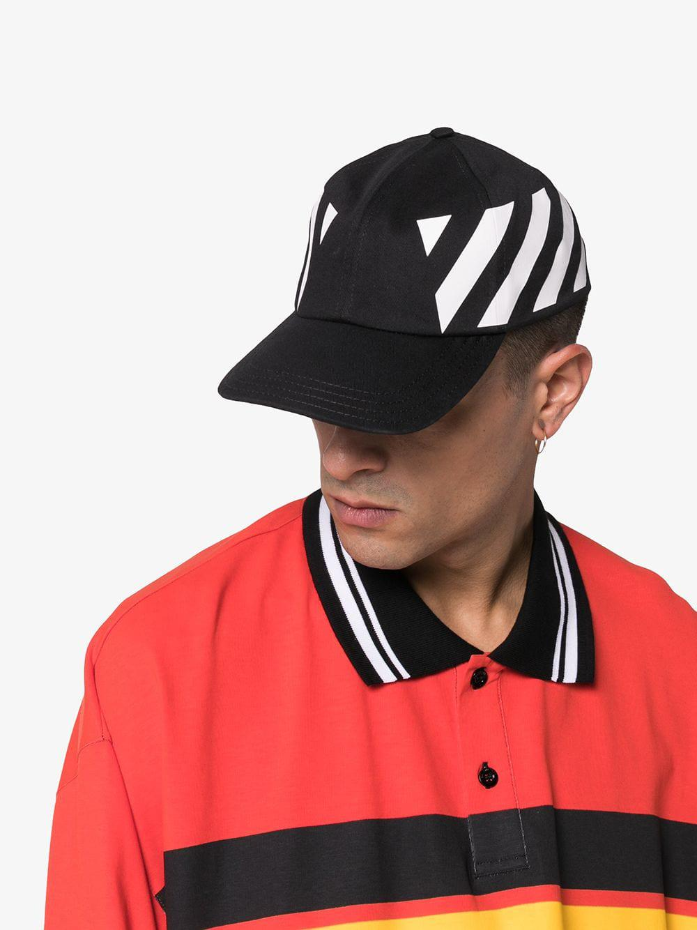 ff34dfd00d4 ... Virgil Abloh - Black And White Striped Baseball Cap for. View fullscreen