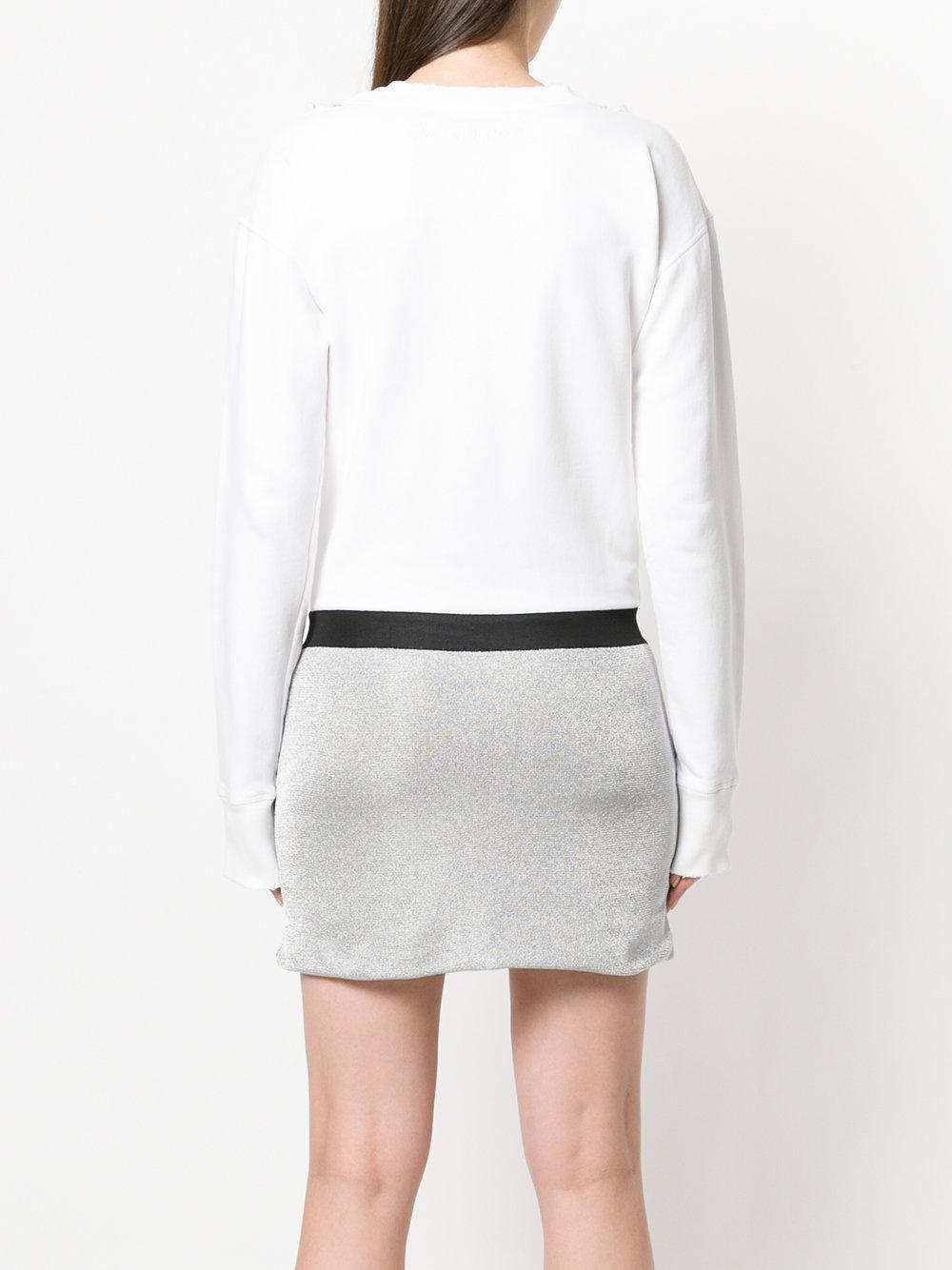 JW Anderson distressed detail mini dress Cheap Sale New Arrival z0ioyl