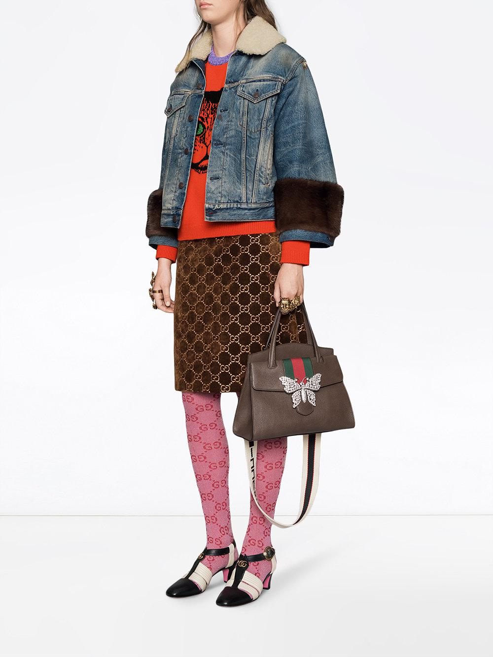 ee1024bb0fbc Gucci Totem Medium Top Handle Bag in Brown - Save 30% - Lyst