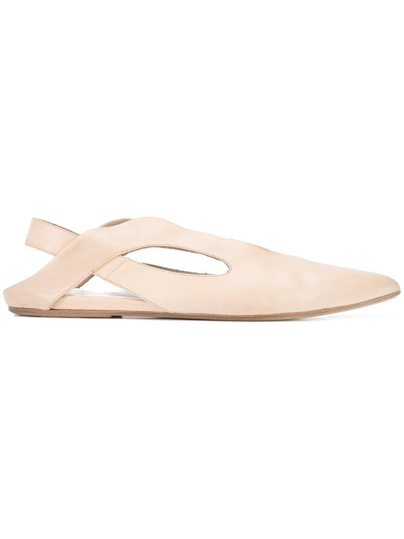 slingback cut out detail ballerinas - Nude & Neutrals Mars abWTd