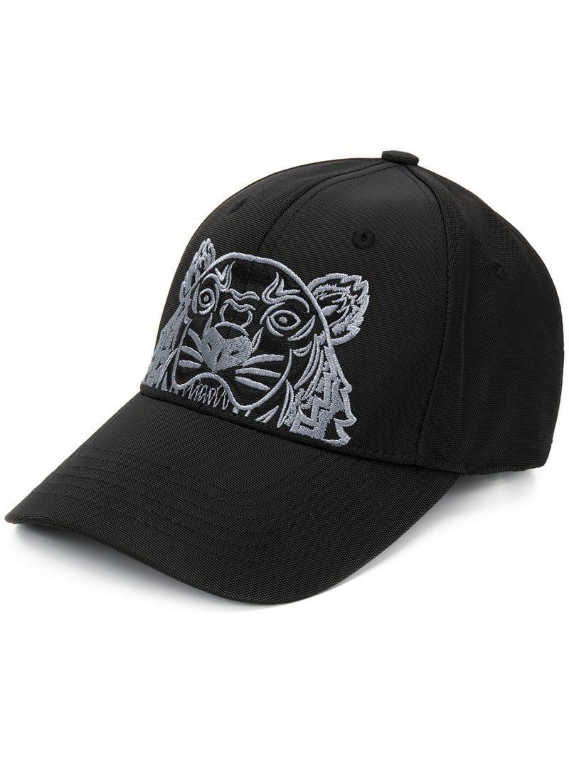 0bc8e67ad55 Kenzo Logo Embroidered Cap in Black for Men - Lyst