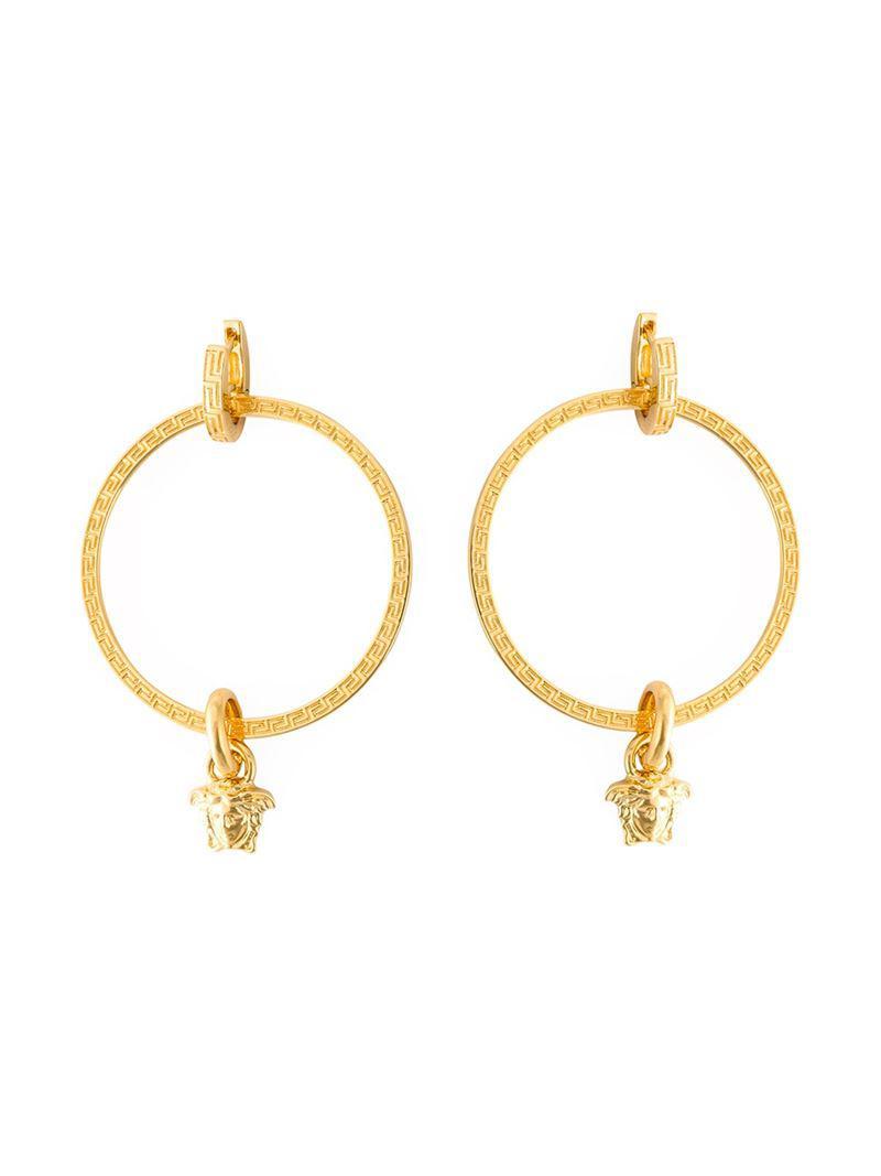 Gold Large Hoop Earrings Versace y5c0gY1